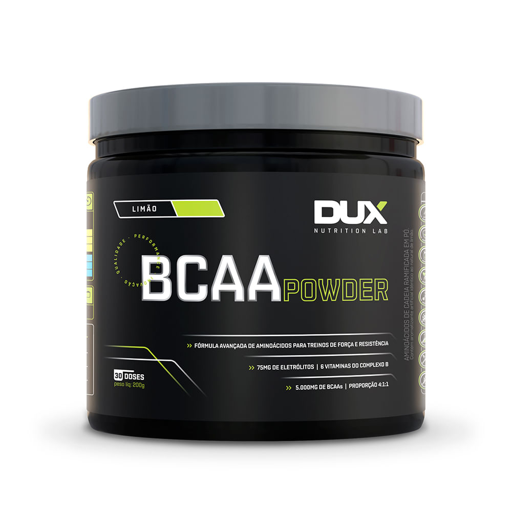 48ff3e3b2 BCAA Powder - Pote 200g - duxnutrition